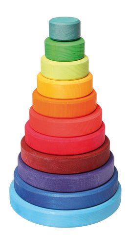 Large Multi- Colour Conical Tower (11 pcs)