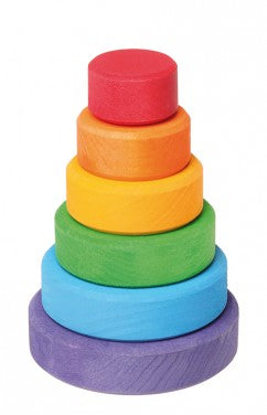 Small Multi-Colour Conical Tower (7 pcs)