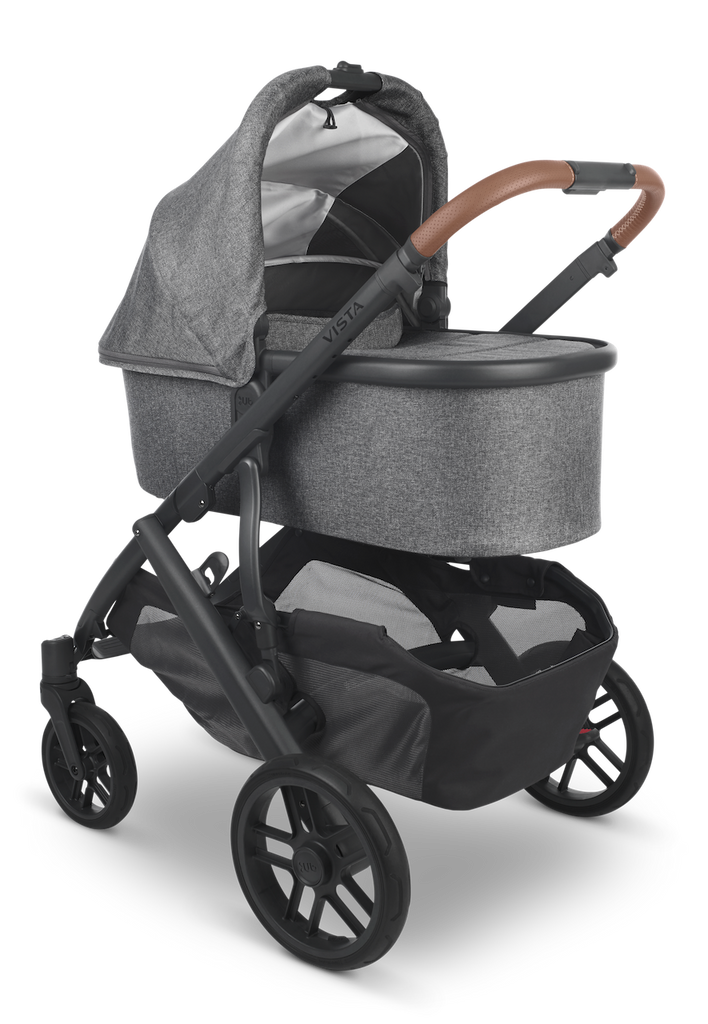 VISTA V2 Stroller - GREYSON (Charcoal Melange/Carbon/Saddle Leather)