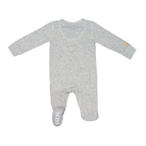 Cotton Fleck Sleeper - Pale Grey