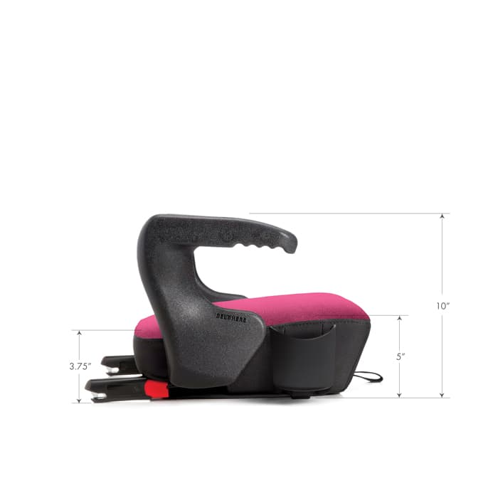 clek olli booster seat dimensions side