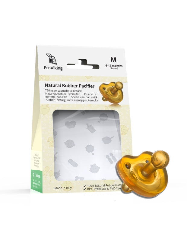 Natural Rubber Pacifier - Round