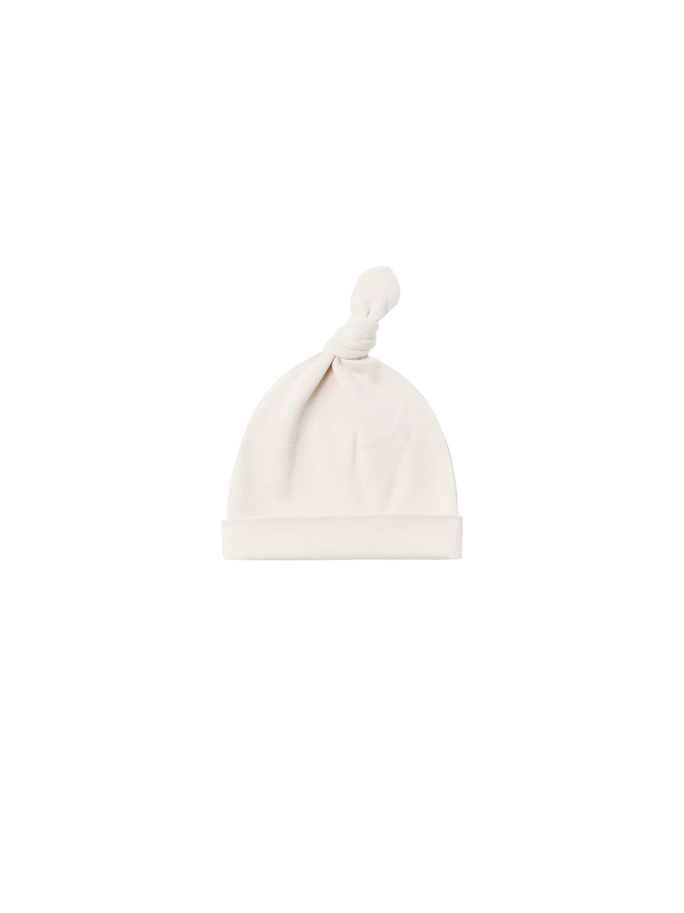Knotted Baby Hat - Ivory (0-6 mo)