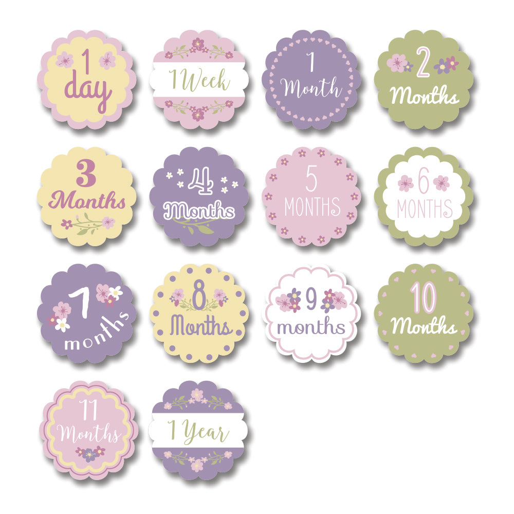 Baby's First Year Milestone Cards & Blanket Set - Isn't She Lovely