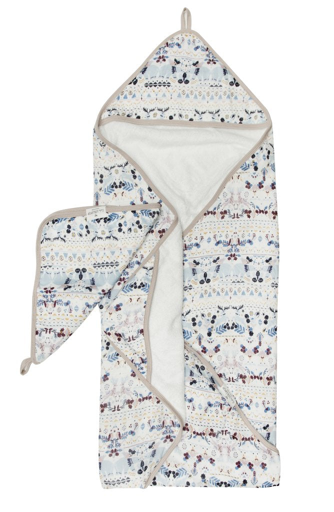 Hooded Towel Set - Fair Isle