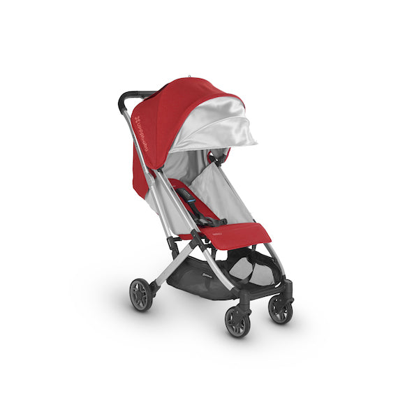 MINU Lightweight Travel Stroller - DENNY (Red/Silver/Black Leather)