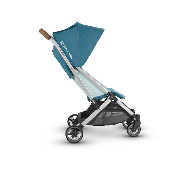 MINU Lightweight Travel Stroller - RYAN (Teal/Silver/Saddle Leather)