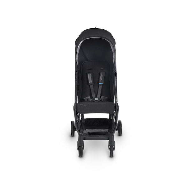 MINU Lightweight Travel Stroller - JAKE (Black/Carbon/Black Leather)