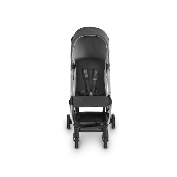 MINU Lightweight Travel Stroller - JORDAN (Charcoal Melange/Silver/Black Leather)