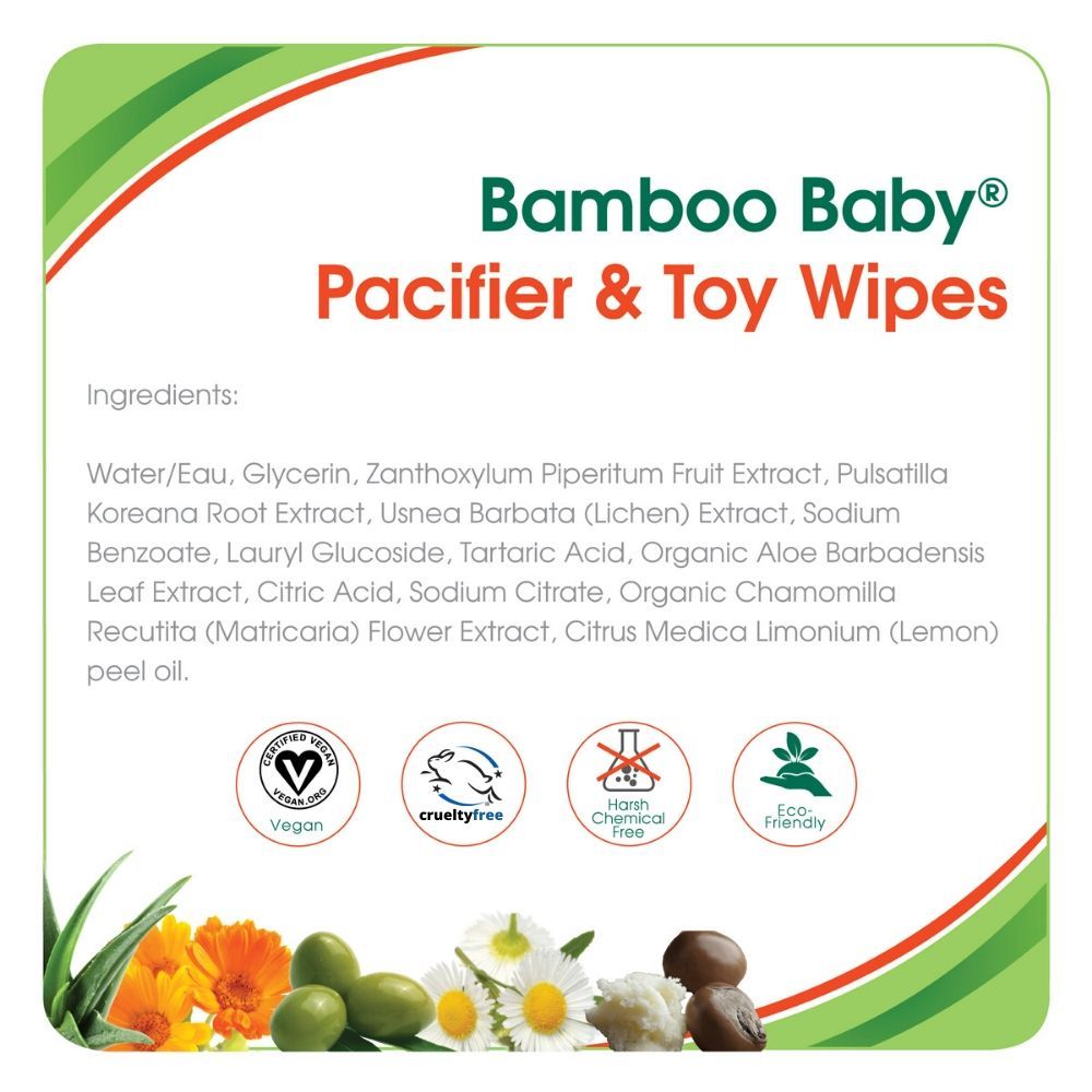 Bamboo Baby Pacifier & Toy Wipes (30 pk)