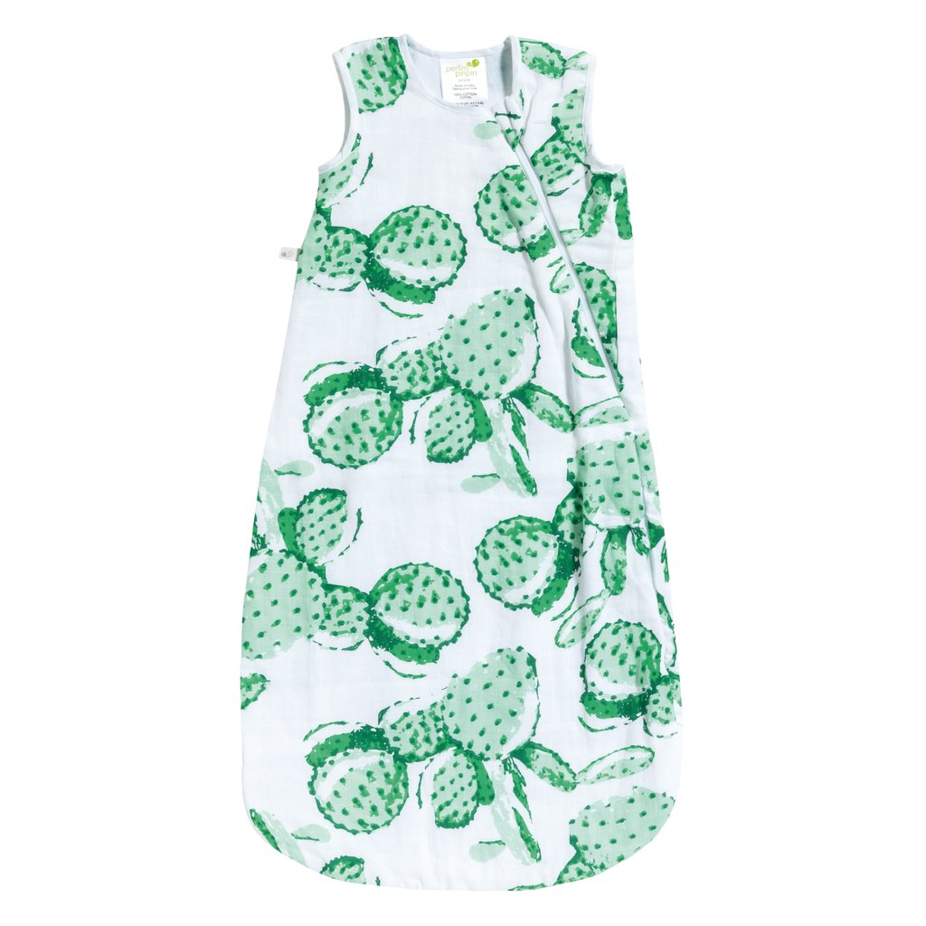Cotton Muslin Sleep Bag (0.7 tog) - Cactus