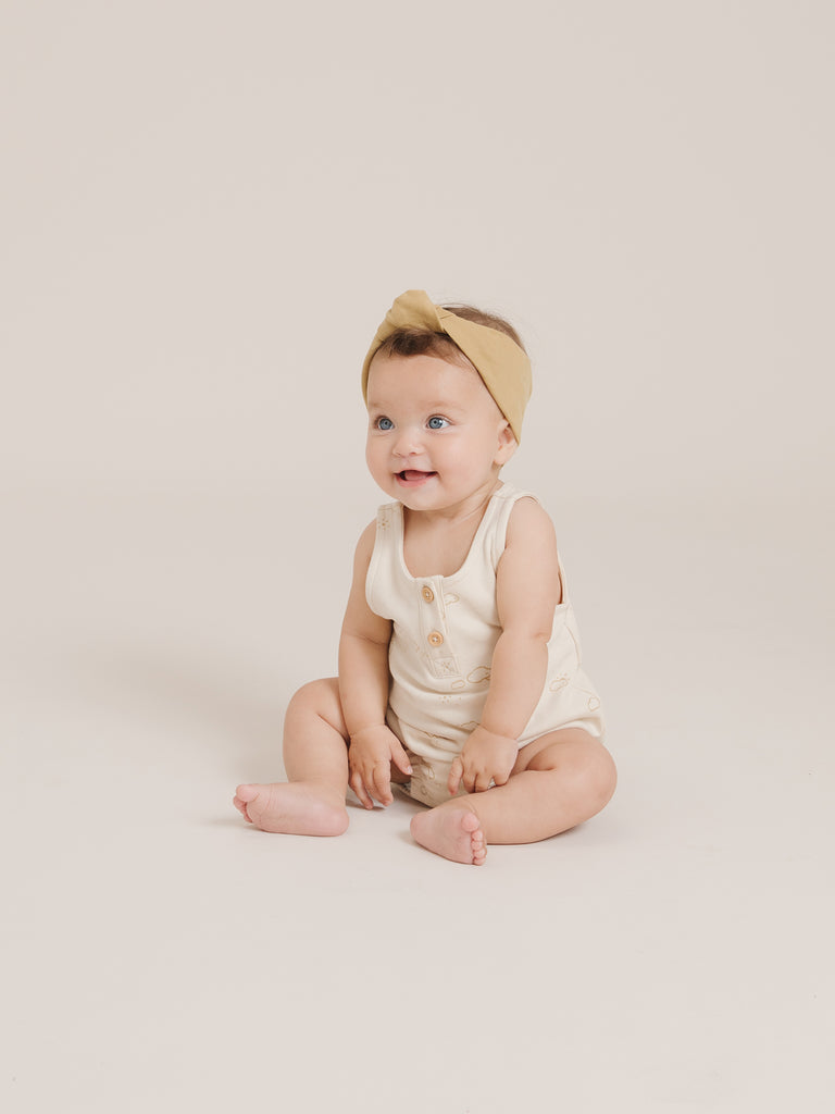 Sleeveless Bubble Romper - Natural