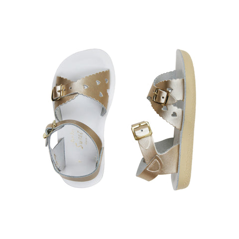 saltwater sweetheart sandals gold kids