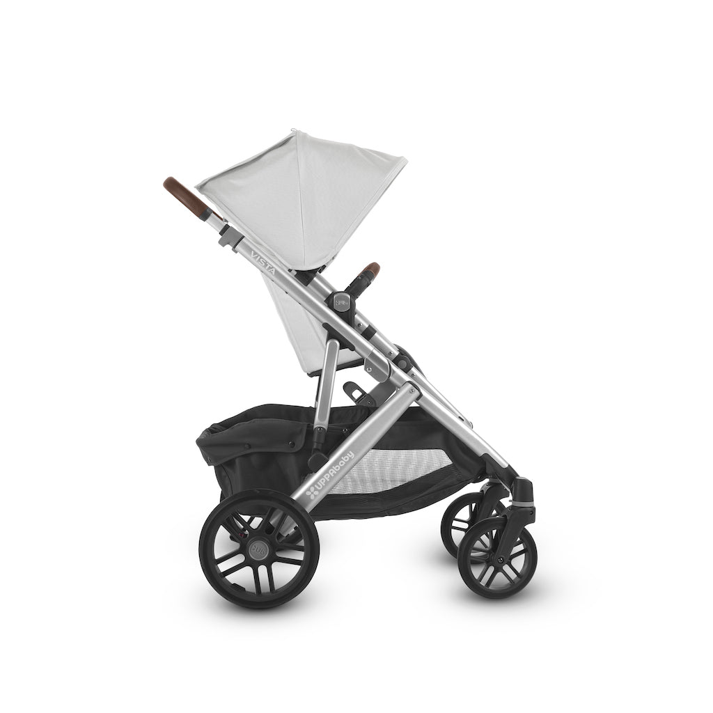VISTA Stroller - Bryce (White Marl/Silver/Chestnut Leather)