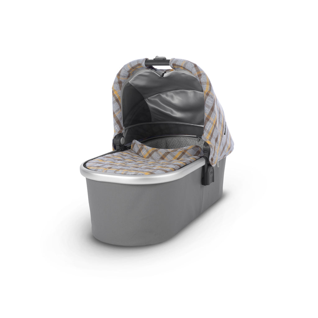 VISTA Stroller - Spenser (Grey & Yellow Tartan/Silver/Moss Leather)