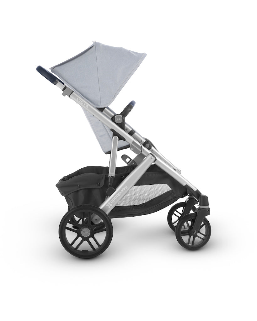 VISTA Stroller - William (Chambray Oxford/Silver/Navy Leather)