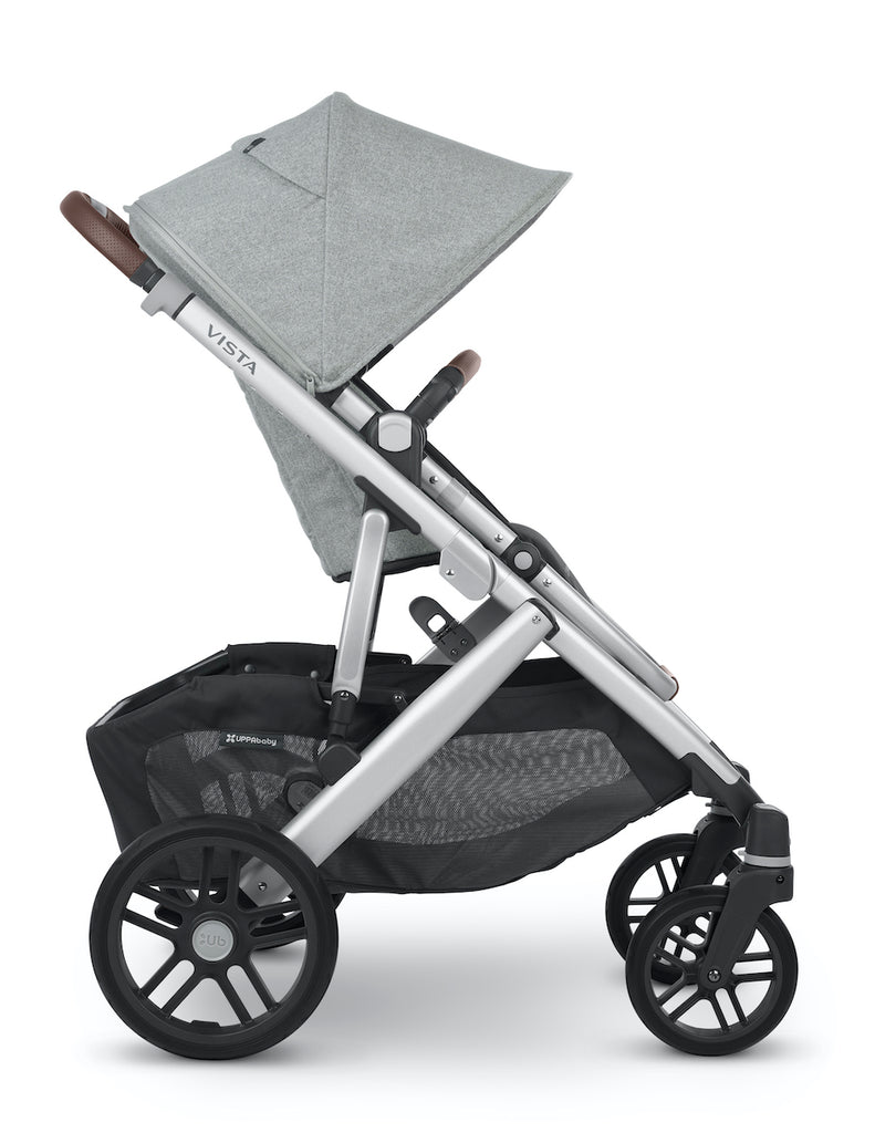 VISTA V2 Stroller - STELLA (Brushed Grey Melange/Silver/Chestnut Leather)
