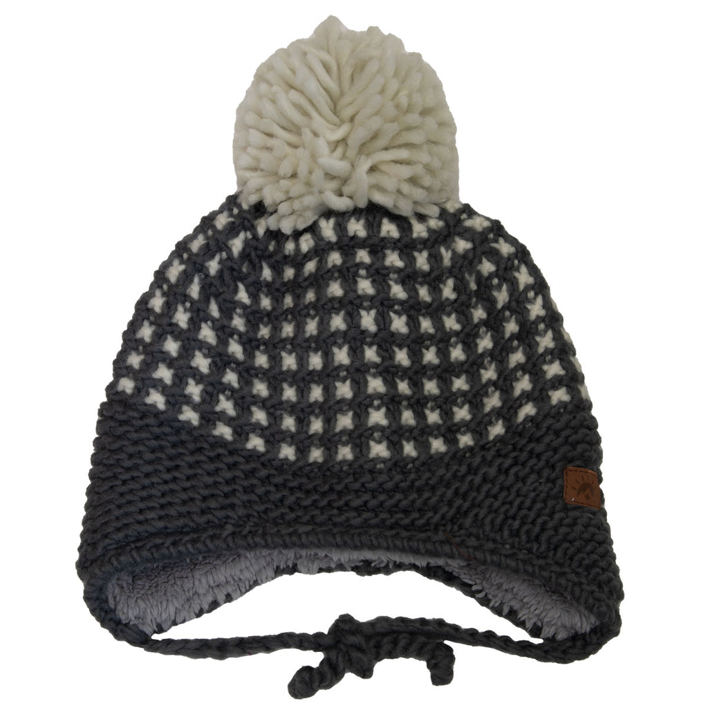 Knit Dot Hat (3-5yrs) - Grey