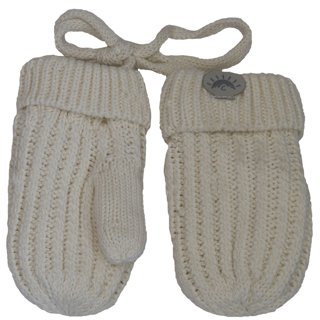 Knit Cozy Mittens - Cream