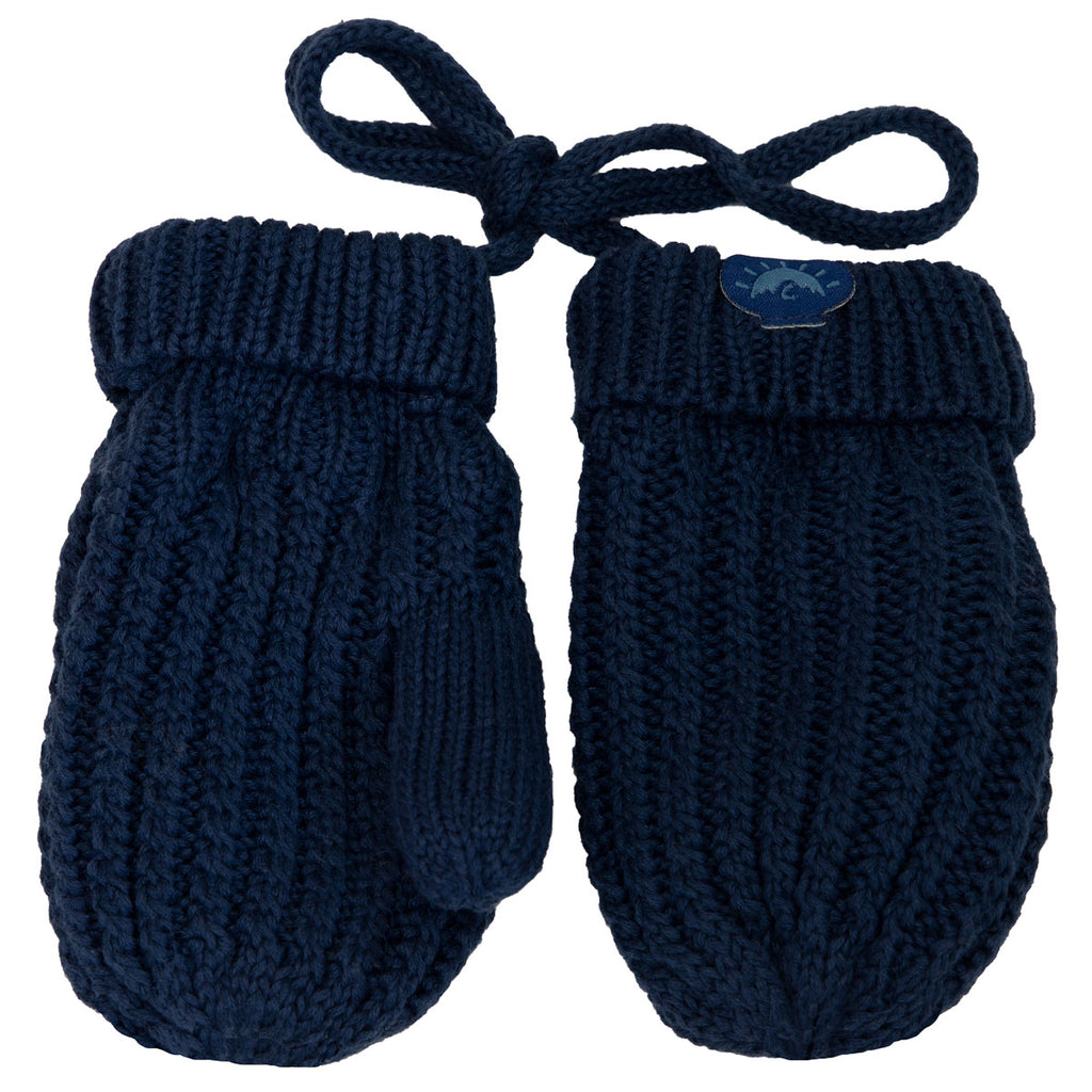 Knit Cozy Mittens  - Navy