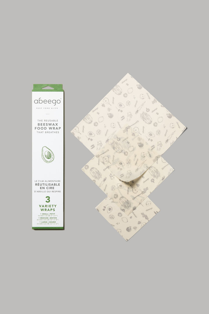 abeego reusable beeswax food wrap