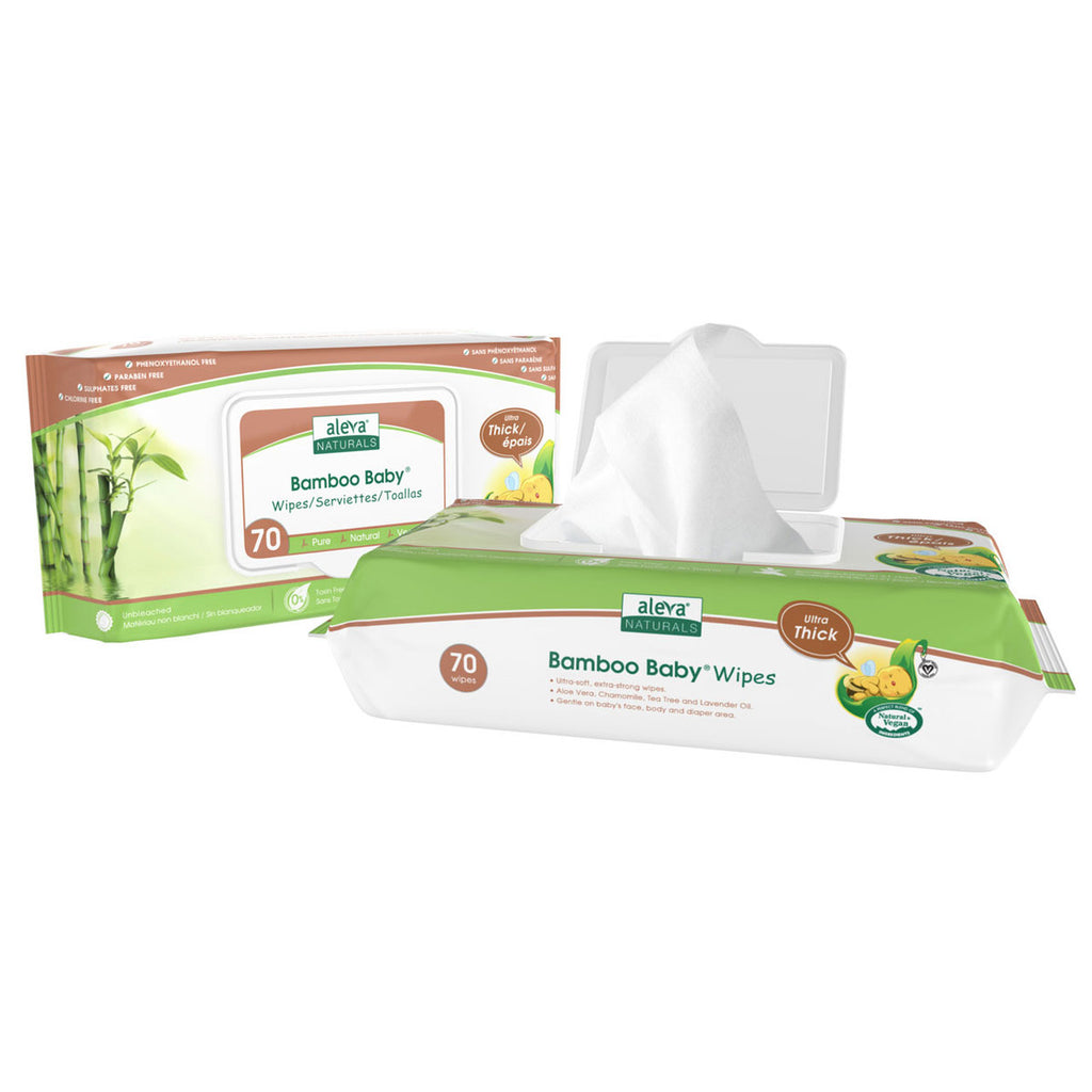 aleva naturals bamboo baby wipes sensitive ultra thick