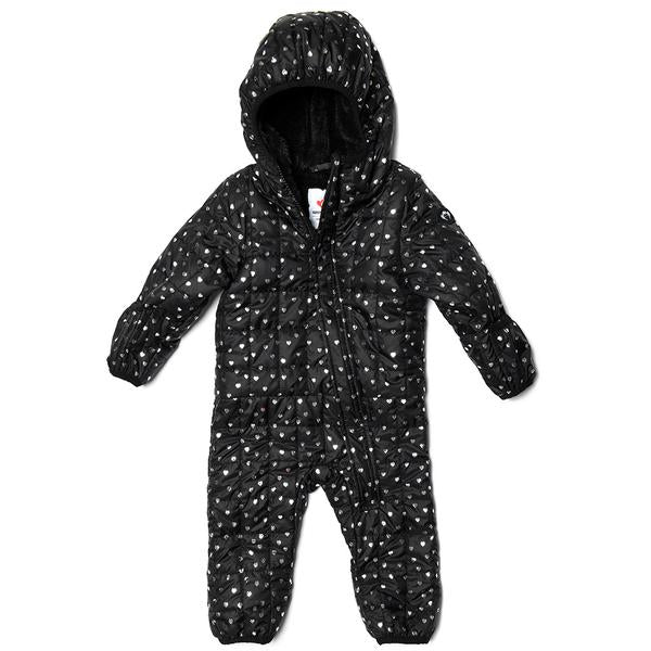 Lightweight Snowsuit - Silver Hearts