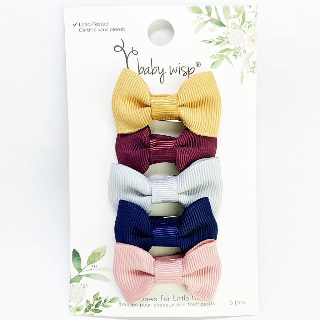 Charlotte Bow Snap Clips (Set of 5)