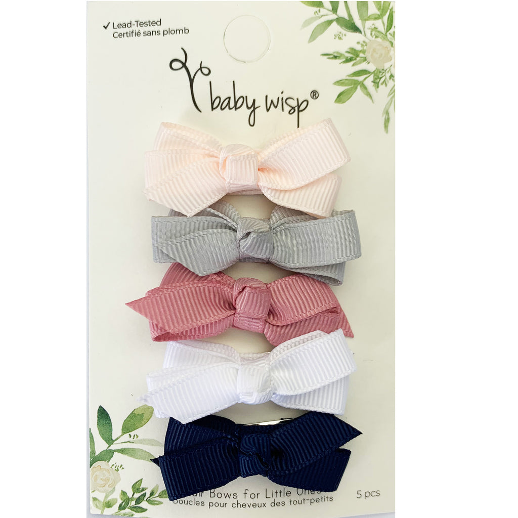Chelsea Bow Snap Clips (Set of 5)