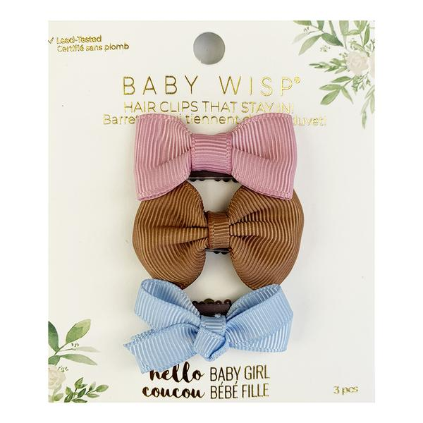 baby wisp mini latch bow 3 pack rose saddle bluebell