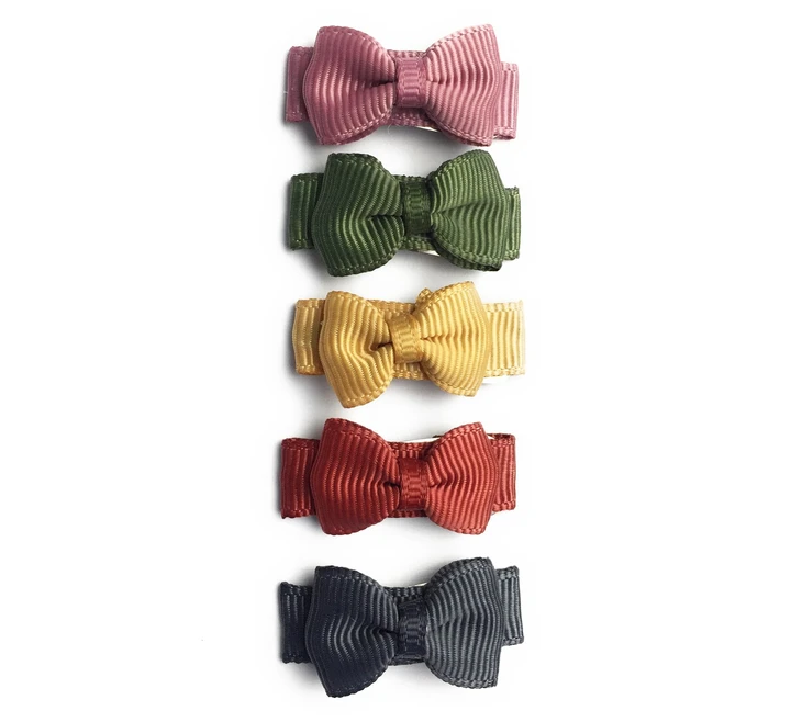 Small Snap Bows (Set of 5)