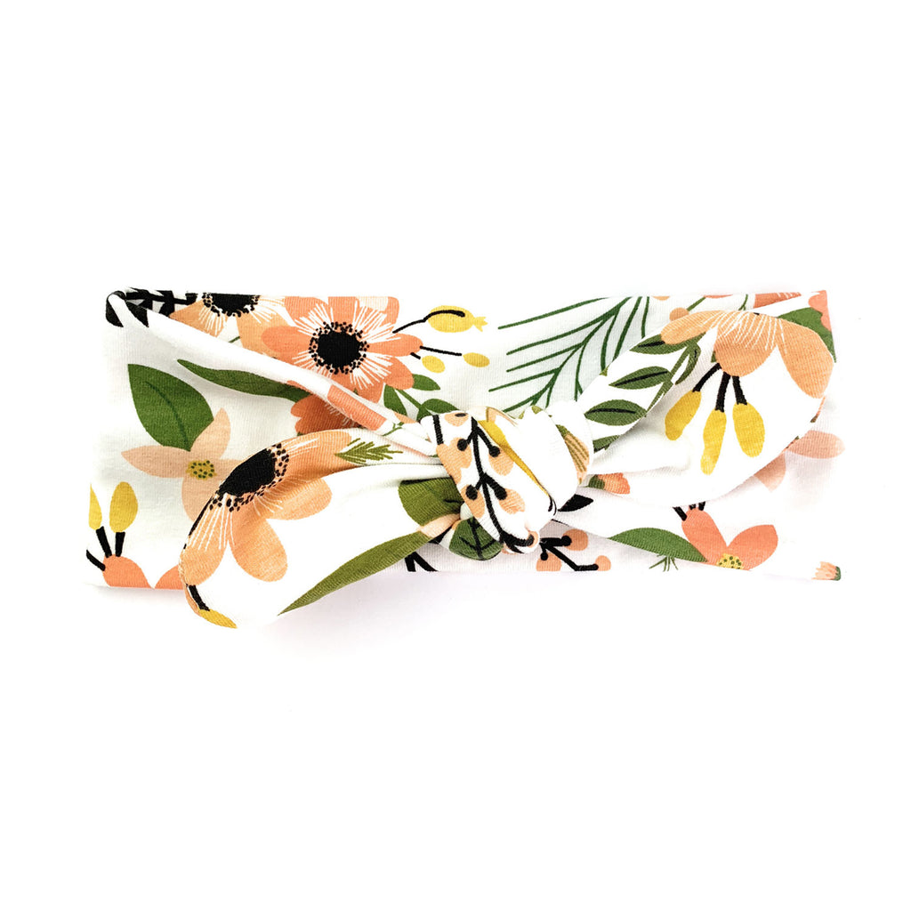 Top Knot Headband - Peach Tropics