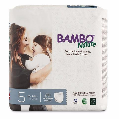 bambo nature eco friendly training pants size 5