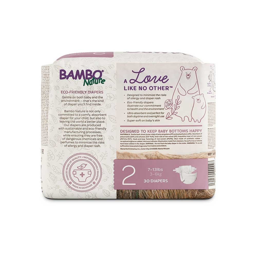 Eco-Friendly Disposable Diapers - Size 2 - 6.5-13 lbs (30ct)
