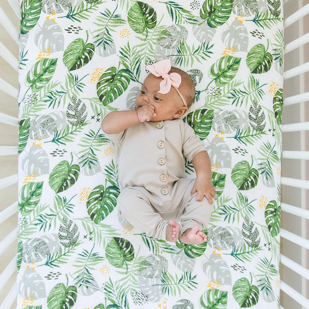 Classic Muslin Crib Sheet - Rainforest