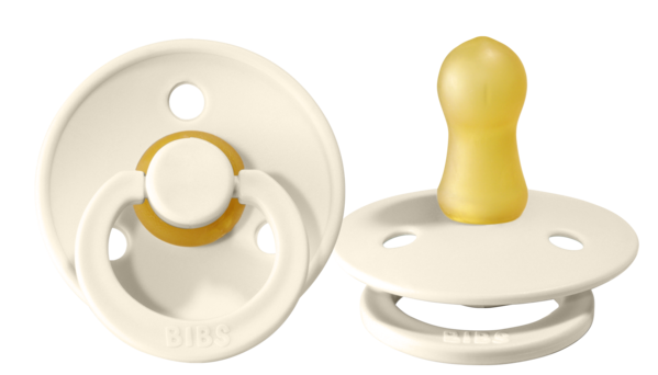 bibs natural rubber pacifier 2pk ivory