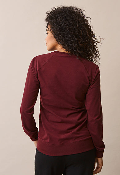 boob design b warmer sweatshirt burgundy