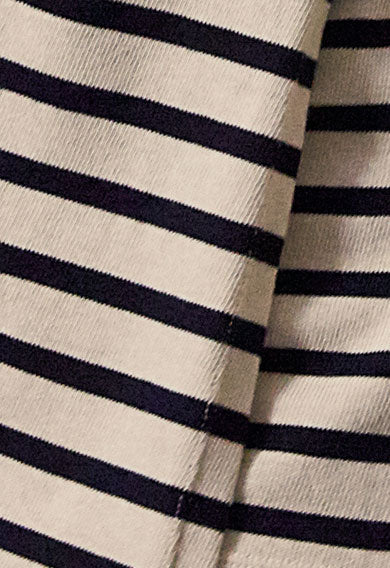 boob designs long sleeve breton stripe maternity nursing top tofu midnight blue close