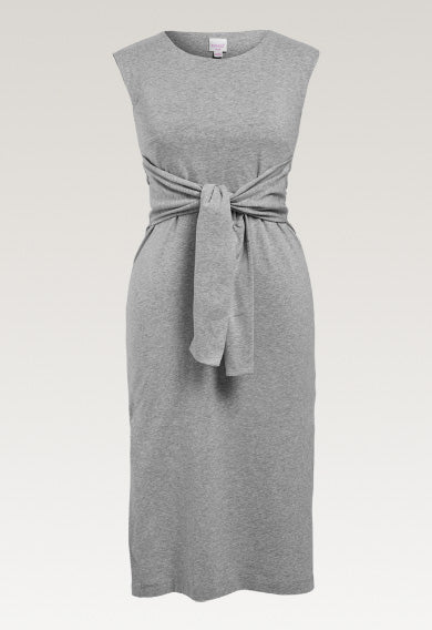 Haley Sleeveless Dress - Grey