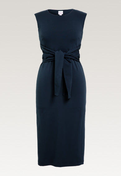 Haley Sleeveless Dress - Midnight Blue (Size L Only)