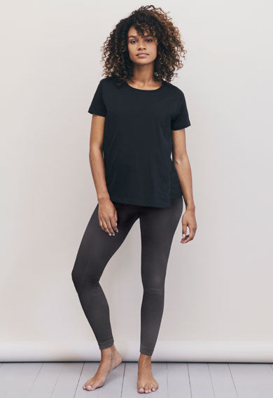 boob design the shirt maternity and nursing top black model