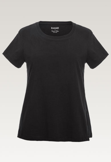 boob design the shirt maternity and nursing top black