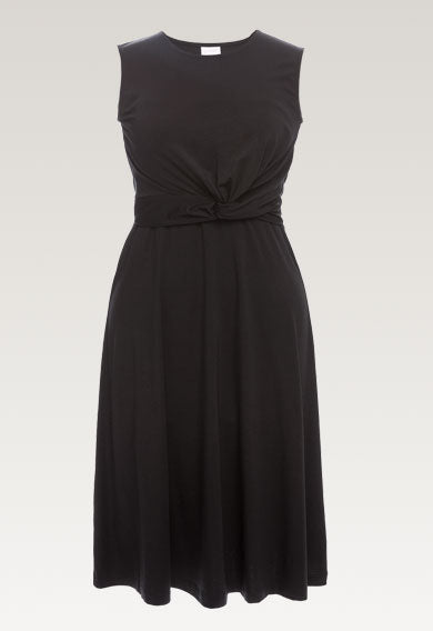 Twist Dress - Black (Size L Only)