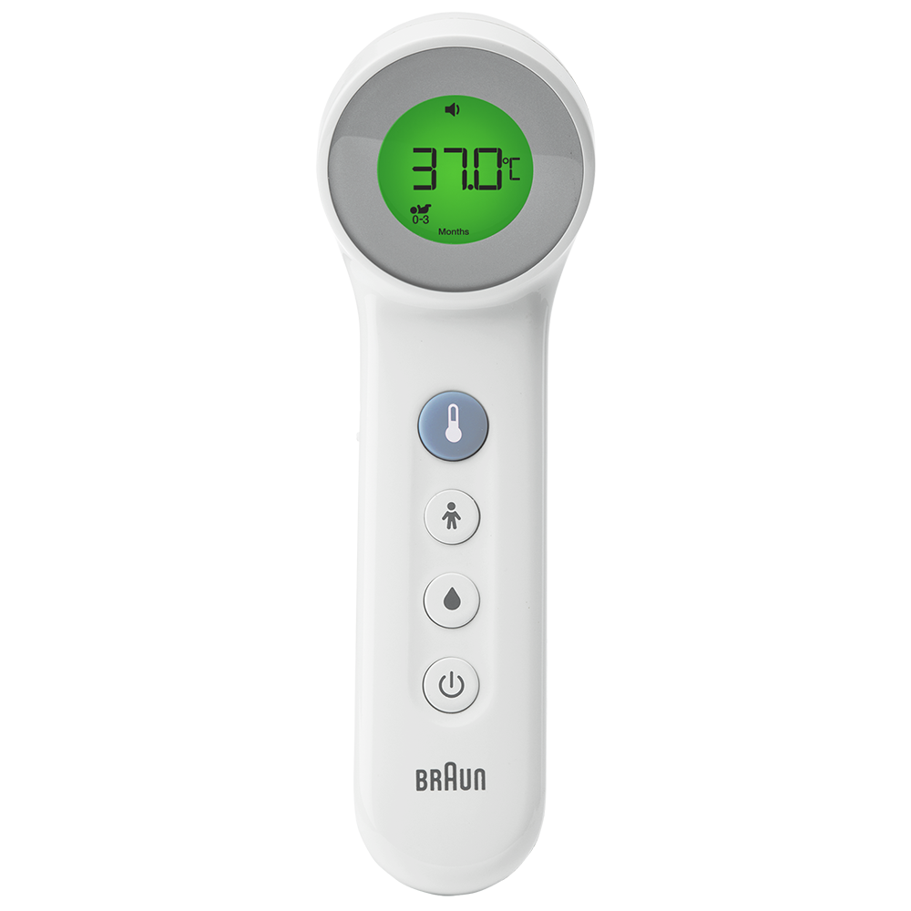 No Touch + Touch Forehead Thermometer with Age Precision