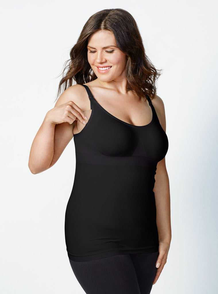 bravado body silk seamless nursing cami black