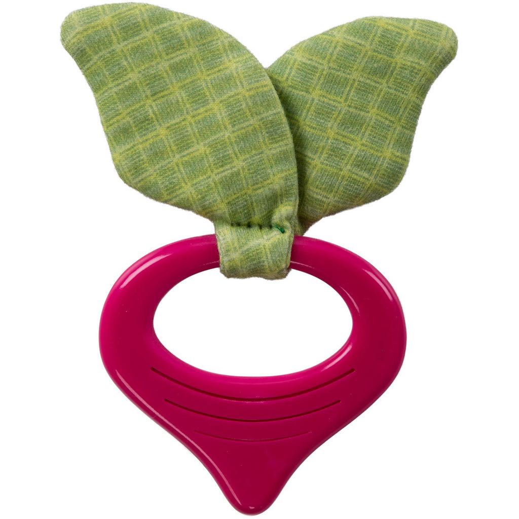 bright starts simply garden chews silicone teether radish
