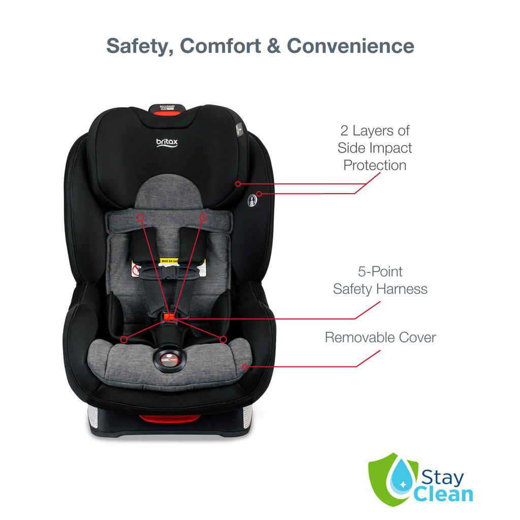 Boulevard ClickTight® Infant/Child Car Seat - StayClean Stainless