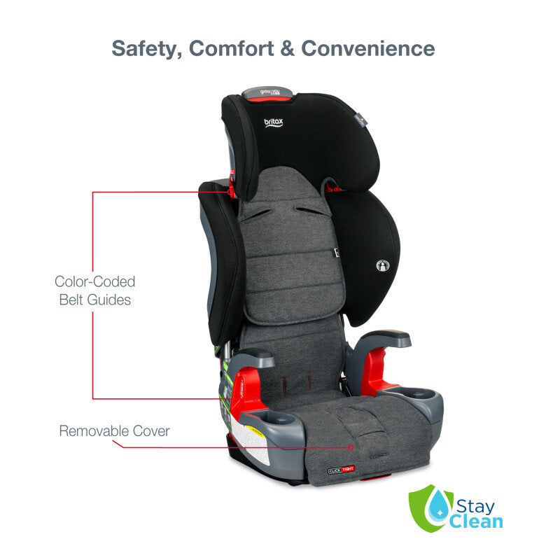 Grow With You ClickTight® Harness-2-Booster Car Seat - StayClean Stainless