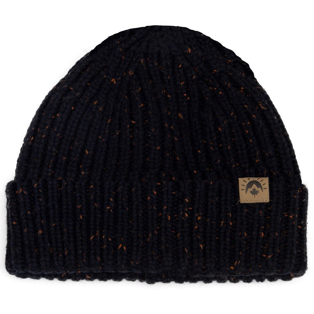Knit Speckled Winter Hat - Navy