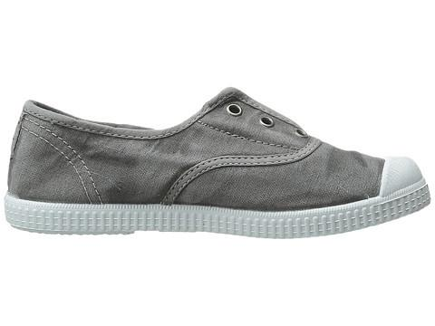 Distressed Canvas Laceless Sneakers - Grey Wash